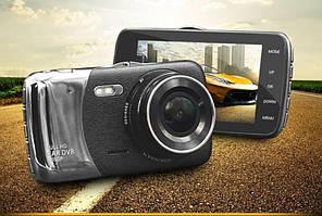 Видеорегистратор HD IR Ночная Съёмка две камеры Car Cam DV460, ночное виденье