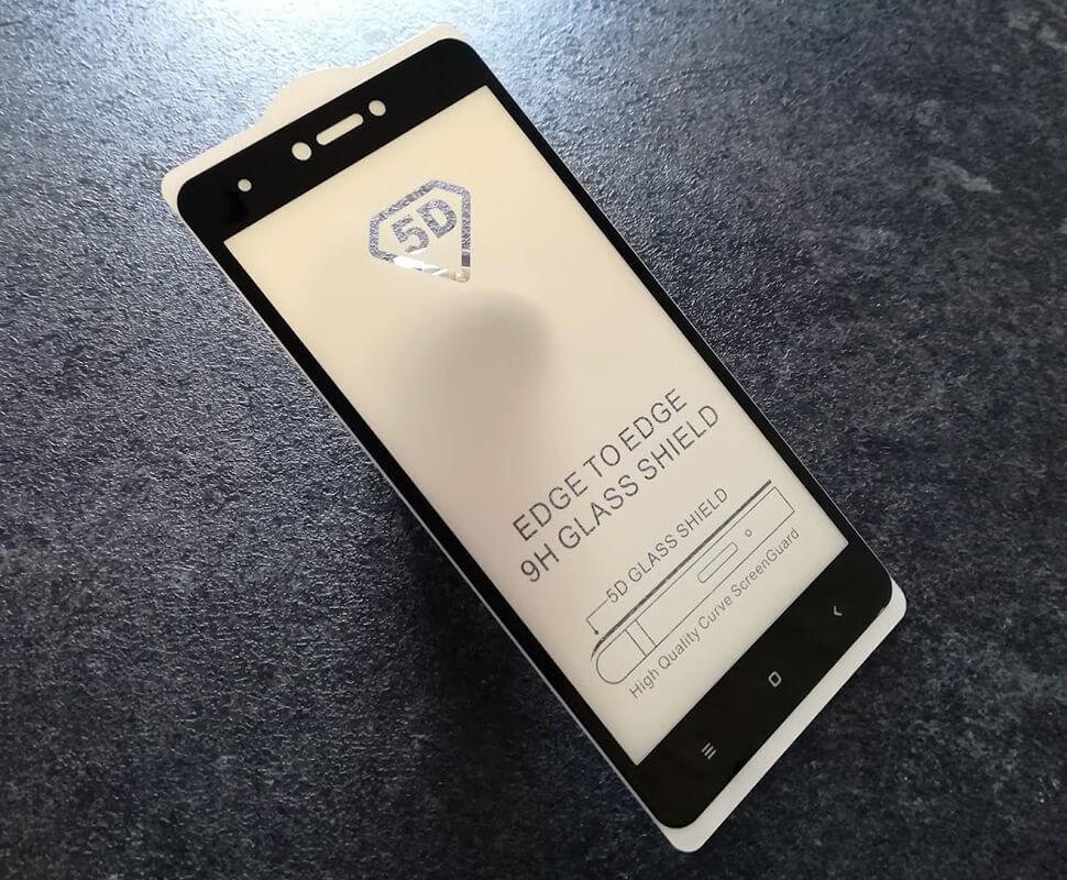 Скло захисне для телефону Xiaomi Redmi Note 4x Full Glue 5D біле 0.3mm з повною проклейкою