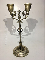 Антикварный серебрянный подсвечник канделябр серебро столовое