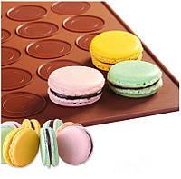 Силиконовый коврик для выпечки макарун, печенья, кексов 40х30 см., 1001887, силиконовый коврик для выпечки печенья макарун