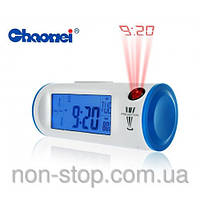 ТОП ВЫБОР! Цифровые часы проектор с подсветкой - Chaowei - 1000390 - настольные часы с проектором, часы реагир