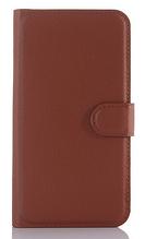 Кожаный чехол-книжка для Motorola moto G3 (5'') коричневый