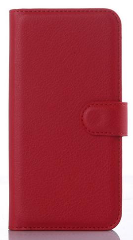 Кожаный чехол-книжка для Motorola moto G3 (5'') красный