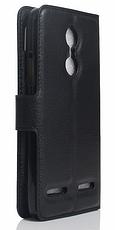Кожаный чехол-книжка для Lenovo Vibe K6 красный, фото 2