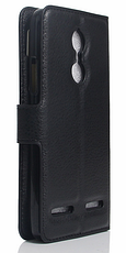 Кожаный чехол-книжка для Lenovo Vibe K6 белый, фото 2
