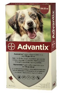 Капли на холку Адвантикс для собак от 10 до 25 кг