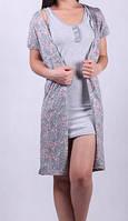 Платье - халат на молнии + ночная Одежда для дома беременным и для кормления