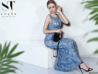Обворожительное гипюровое платье макси размеры S-ХL, фото 1