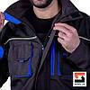 Костюм рабочий SteelUZ куртка и полукомбинезон, синяя отделка, фото 8