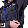 Костюм рабочий SteelUZ куртка и полукомбинезон, синяя отделка, фото 9