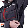 Качественный рабочий костюм с полукомбинезоном SteelUZ, красная отделка, фото 10