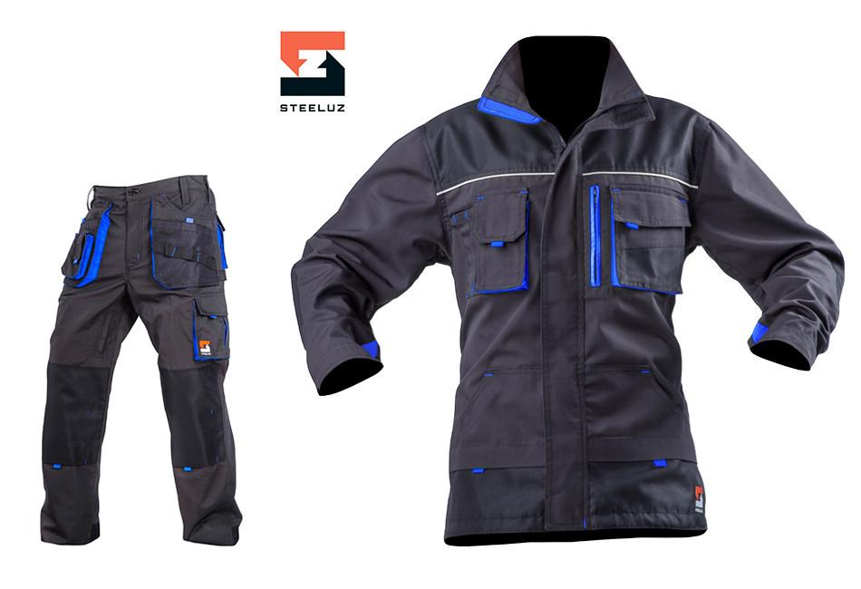 Рабочий мужской костюм с брюками SteelUZ, синяя отделка