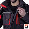 Костюм рабочий с брюками SteelUZ, красная отделка, фото 10