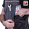 Костюм рабочий с полукомбинезоном SteelUZ, синяя отделка, фото 6