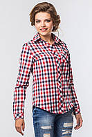 Рубашка в трехцветную клетку