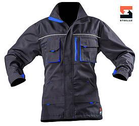 Куртка рабочая  демисезонная SteelUZ с синей отделкой