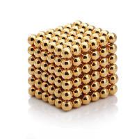 Магнитные шарики конструктор, Неокуб Золотой 216 шт, игрушка магнитные шарики   магнітні кульки (NS)