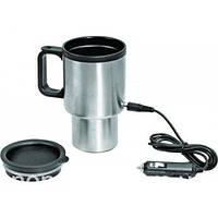 Авто-кружка с подогревом Electric Mug, 350 мл, автомобильная термокружка от прикуривателя (NS), фото 1