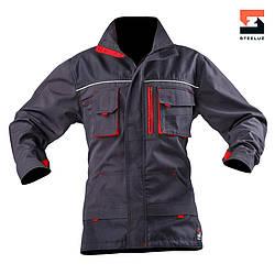 Куртка мужская  рабочая SteelUZ с красной отделкой