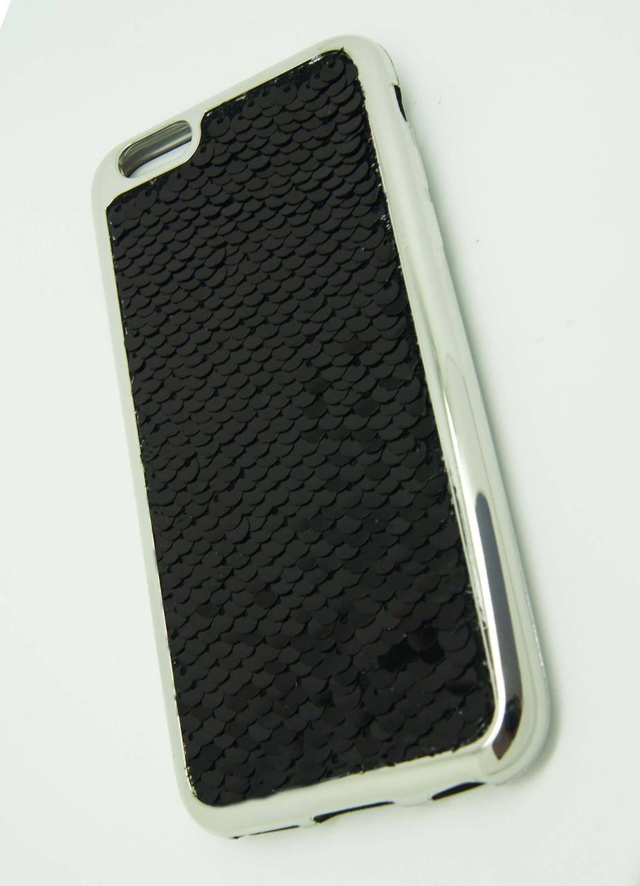 Силиконовый чехол для iPhone 6 / 6S Чешуйки Black