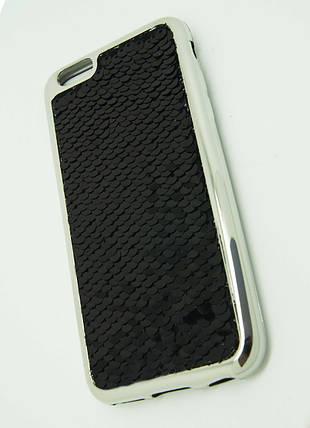 Силиконовый чехол для iPhone 6 / 6S Чешуйки Black, фото 2