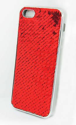 Силиконовый чехол для iPhone 5 / 5C / 5S / SE Чешуйки Red, фото 2
