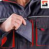 Куртка мужская  рабочая SteelUZ с красной отделкой, фото 10