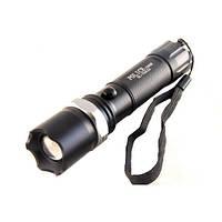 Потужний ручний ліхтарик Bailong 1000W BL-T8626 Чорний, акумуляторний світлодіодний ліхтарик, фото 1