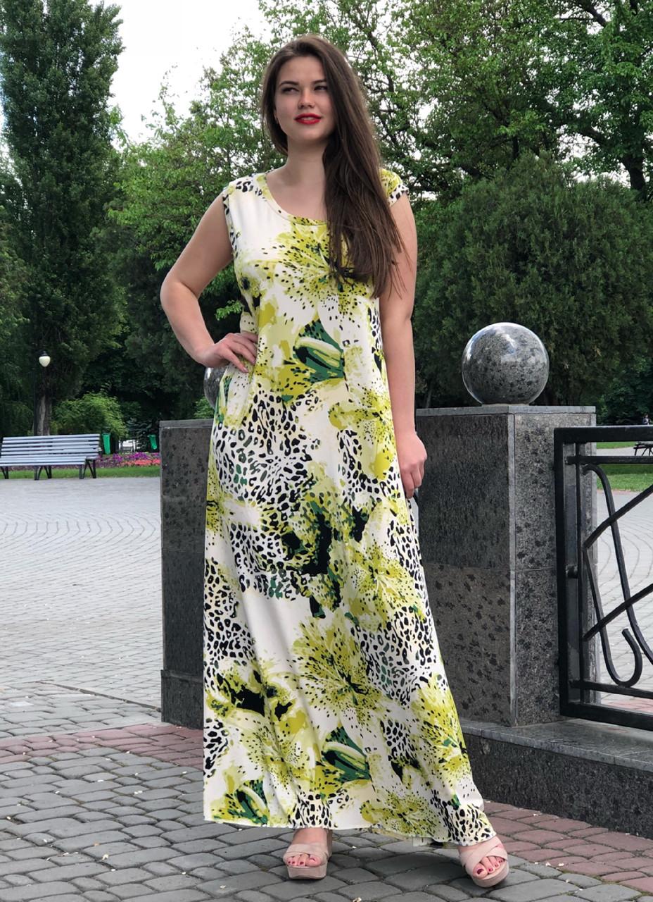 Літнє гарне плаття великих розмірів Мальва
