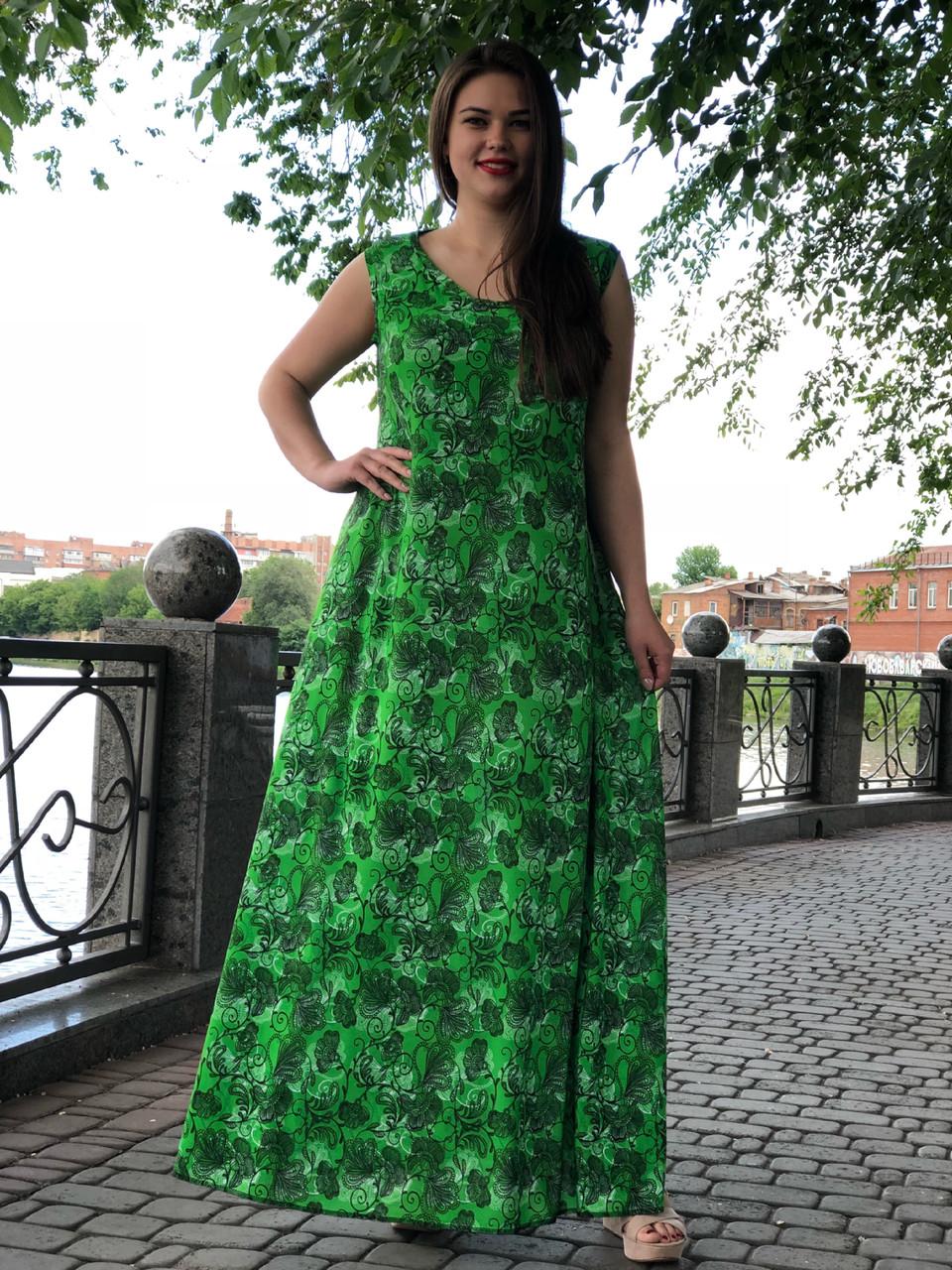 Платье батальное летнее длинное большой выбор расцветок