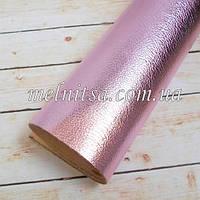 Кожзам на тканевой основе, 35х20 см, цвет розовый
