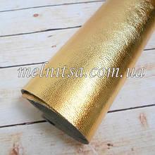Кожзам на тканевой основе, 35х24 см, цвет желтое золото