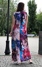 Длинное платье летнее без рукава для полных Мальва, фото 3