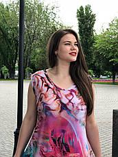 Длинное платье летнее без рукава для полных Мальва, фото 2