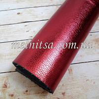 Кожзам на тканевой основе, 35х20 см, цвет вишневый