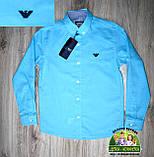 Нарядный костюм Armani для мальчика 1-4 года: голубая рубашка и синие или черные брюки, фото 4