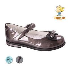 Туфли для девочкиТОМ М 3736F темное серебро 28-32