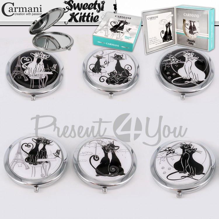 Зеркало «Пара черно-белых котов » Carmani в ассортименте 6 видов, d-7 см