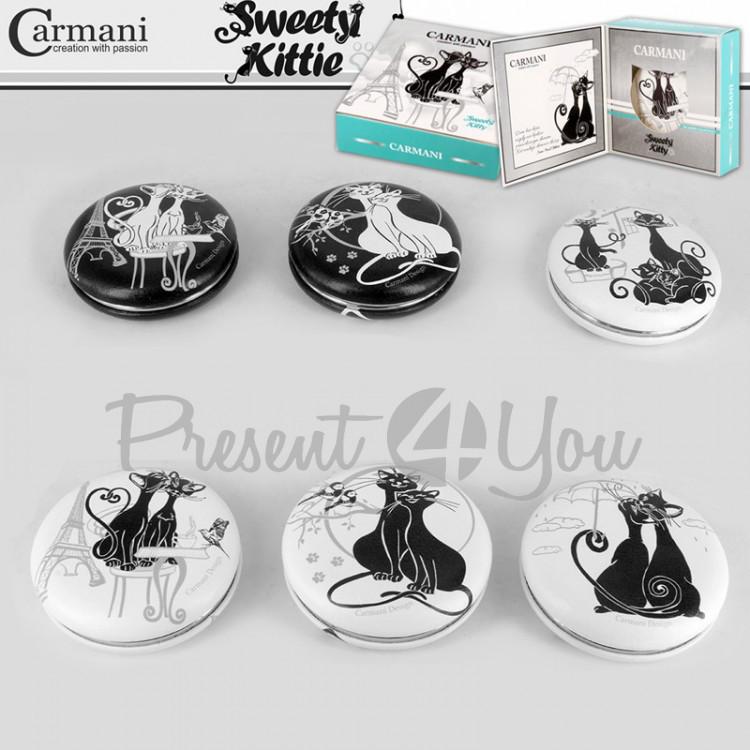 Зеркало «Черно-белые коты» Carmani в ассортименте 6 видов, d-7 см