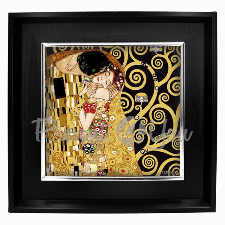 Картина Г. Климт «Поцелуй» Carmani, 44х44, 30х30 см