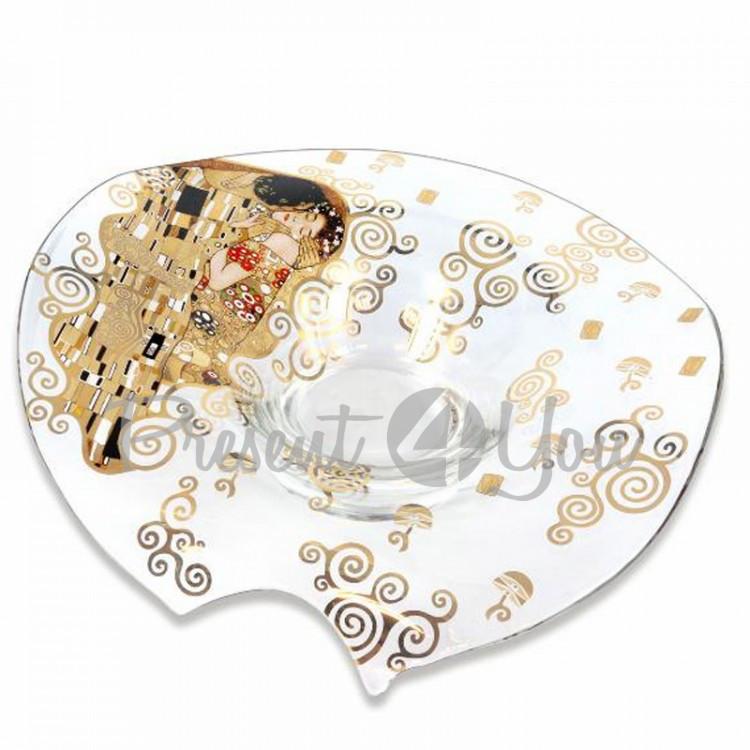 Блюдо стеклянное Г. Климт «Поцелуй» Carmani, h-10,5, d-3,5 см