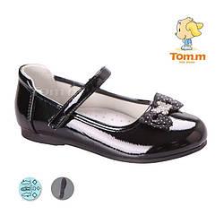Туфли для девочки Туфли ТОМ М 3724B Black бант и бабочка 26-31