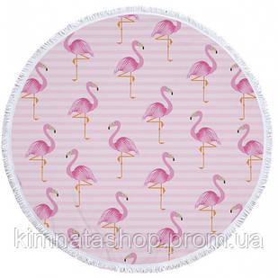 Пляжний килимок Tender Flamingo фламінго 150 см