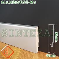 Прямоугольный МДФ-плинтус под металл, 82х16 мм., фото 1