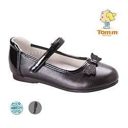 Туфли для девочки Туфли ТОМ М 3723B Black бант 26-31