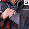 Куртка мужская  рабочая SteelUZ с красной отделкой LT, фото 7