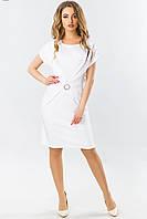 Красивое белое вечернее платье короткое с пряжкой