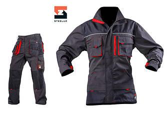 Костюм рабочий SteelUZ куртка и брюки, красная отделка 56