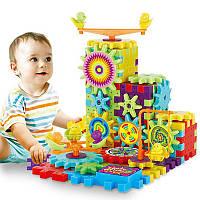 🔝 Конструктор детский 3Д шестеренки Magik Gears - Funny Bricks (81 деталь) с большими деталями для маленьких | 🎁%🚚