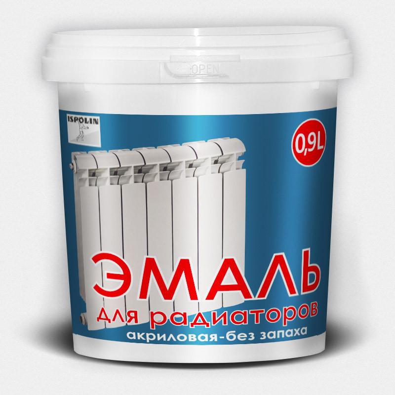 """Эмаль радиаторная """"Ispolin""""  0.9л"""